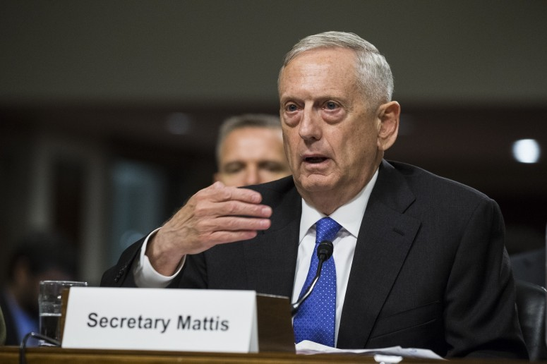 Secretary of Defense James Mattis testifies before Congress